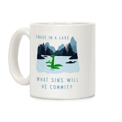 Snake In a Lake Coffee Mug
