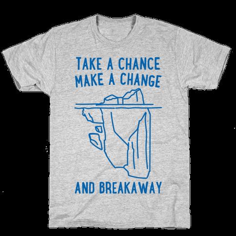 Breakaway Iceberg Parody Mens T-Shirt
