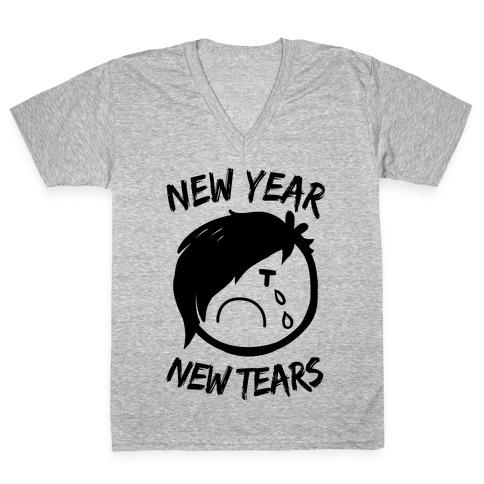 New Year, New Tears V-Neck Tee Shirt