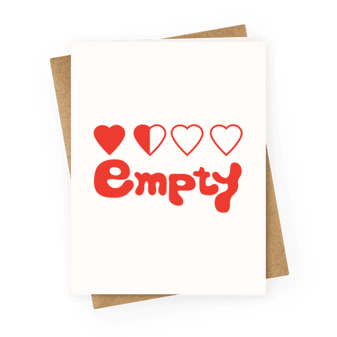 Empty Greeting Card