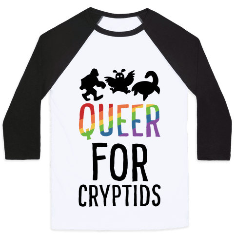 Queer for Cryptids Baseball Tee