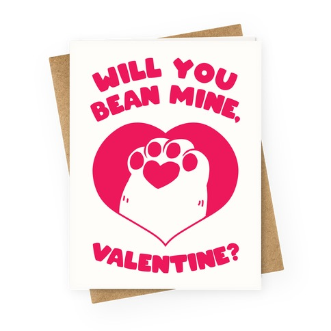 Will You Bean Mine, Valentine? Greeting Card
