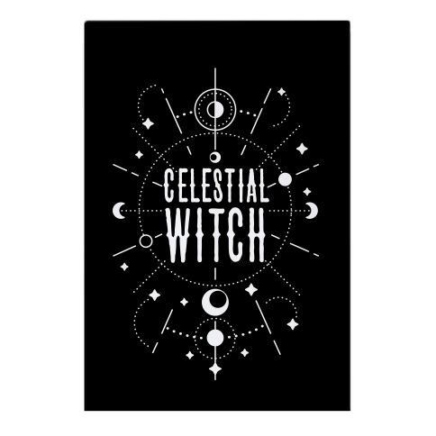 Celestial Witch Garden Flag