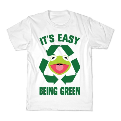 It's Easy Being Green Recycling Kermit Kids T-Shirt