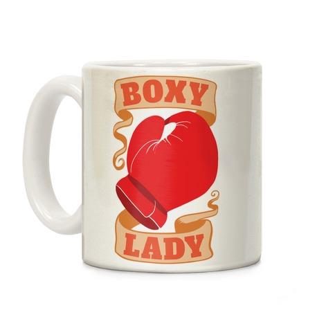 Boxy Lady Coffee Mug