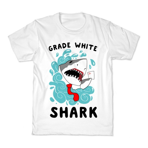 Grade White Shark Kids T-Shirt