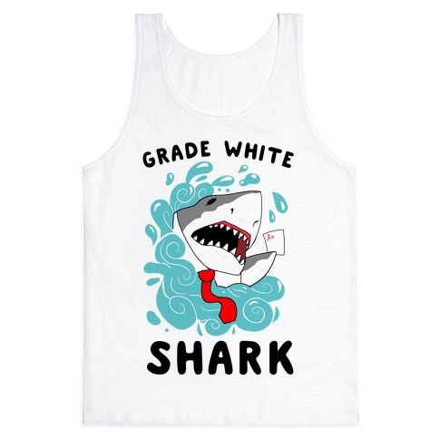 Grade White Shark Tank Top