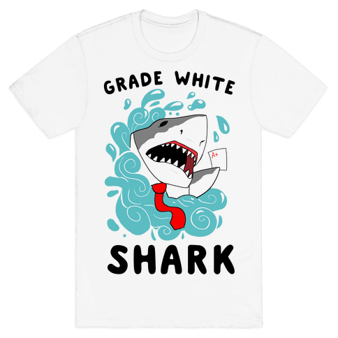Grade White Shark Mens T-Shirt