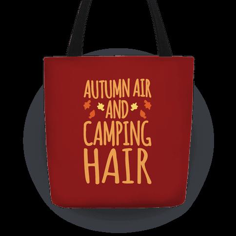 Autumn Air And Camping Hair Tote