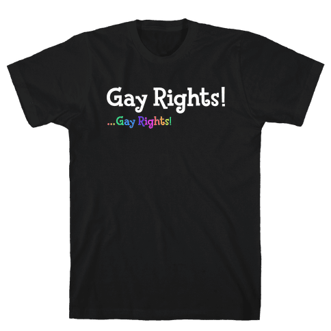 Timmy & Tommy Say Gay Rights! Mens/Unisex T-Shirt