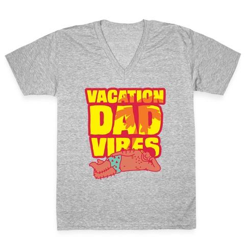 Vacation Dad Vibes V-Neck Tee Shirt