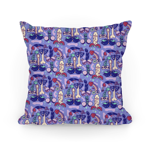Phallic Witchy Things Pattern Pillow