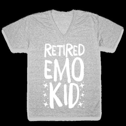 Retired Emo Kid V-Neck Tee Shirt