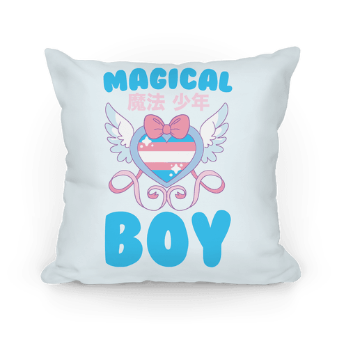 Magical Boy - Trans Pride Pillow
