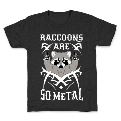 Raccoons Are So Metal Kids T-Shirt
