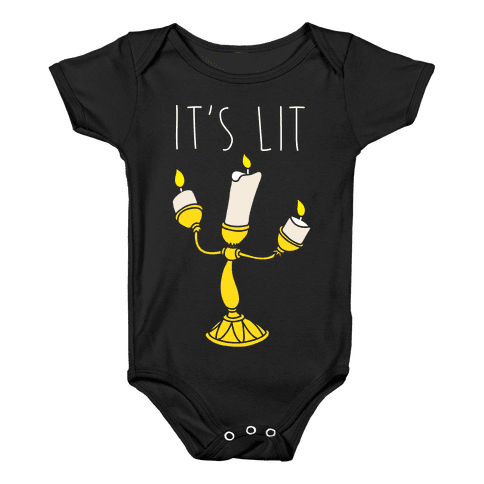 It's Lit Lumire Parody Baby Onesy