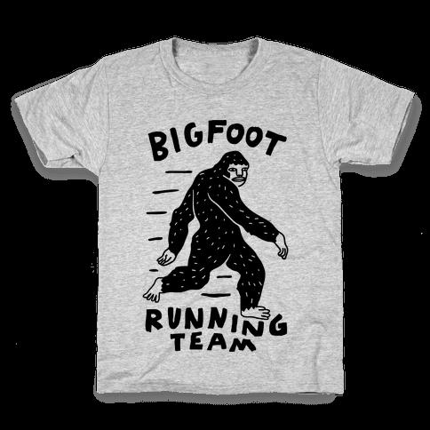 Bigfoot Running Team Kids T-Shirt