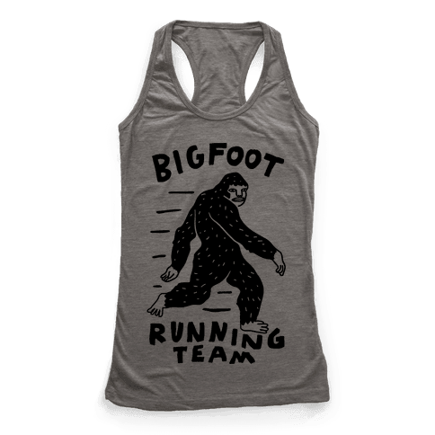 Bigfoot Running Team Racerback Tank Top