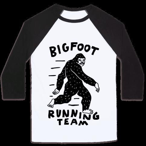 Bigfoot Running Team Baseball Tee