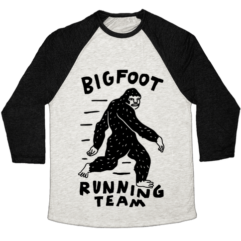 Bigfoot Running Team Baseball Tee