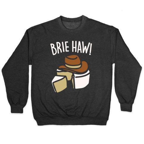 Brie Haw Parody White Print Pullover