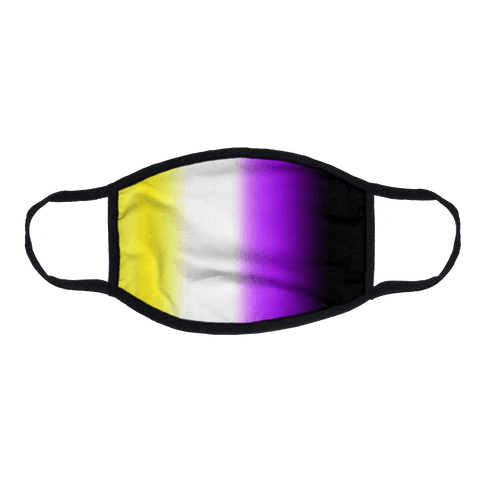 Nonbinary Gradient Flat Face Mask