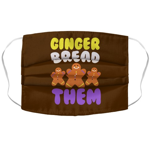 Ginger Bread Them Accordion Face Mask