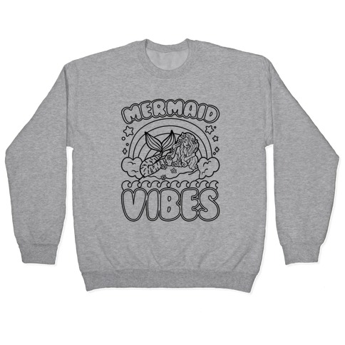 Mermaid Vibes Coloring Book Style Shirt Pullover