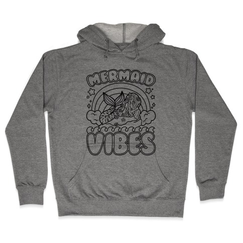 Mermaid Vibes Coloring Book Style Shirt Hooded Sweatshirt