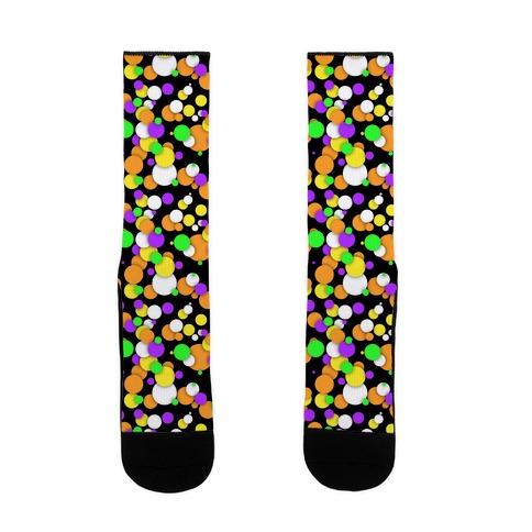 Halloween Confetti Pattern Sock