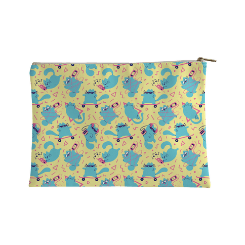 90's Cats Pattern Accessory Bag