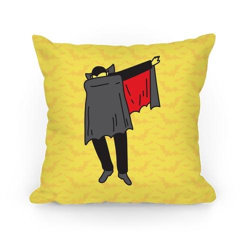 Dabbing Dracula Pillow