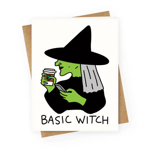 Basic Witch Greeting Card