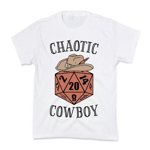 Chaotic cowboy Kids T-Shirt