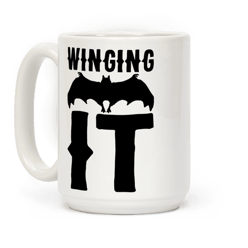 Winging It Bat  Coffee Mug