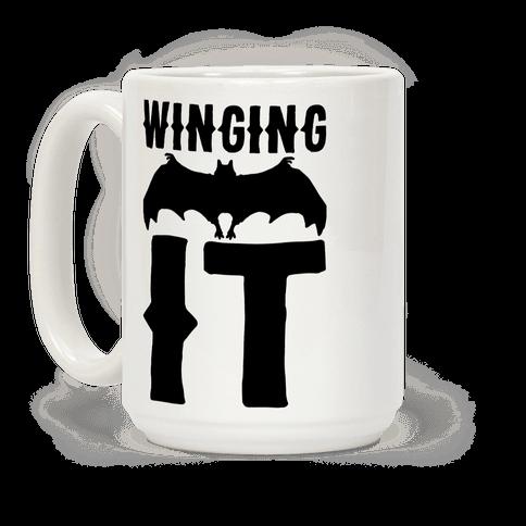 Winging It Bat  Coffee Mug