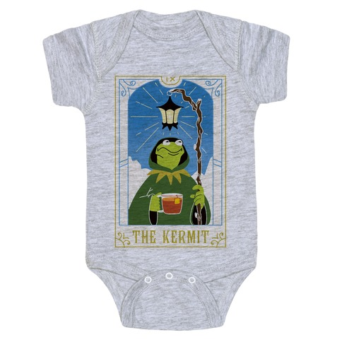 The Kermit Tarot Card Baby Onesy