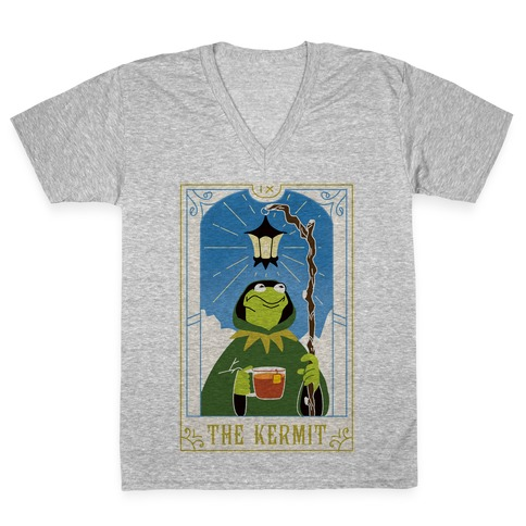 The Kermit Tarot Card V-Neck Tee Shirt