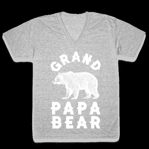 Grandpapa Bear V-Neck Tee Shirt