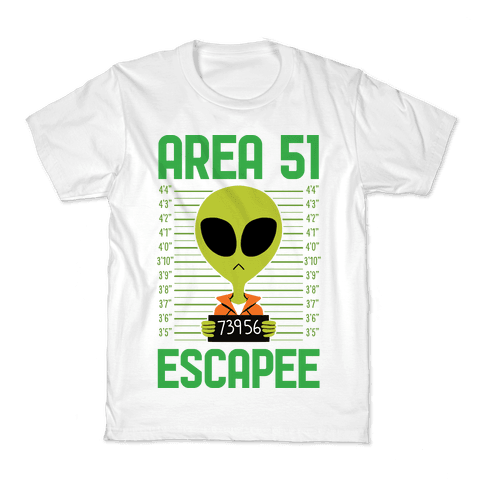 Area 51 Escapee Kids T-Shirt