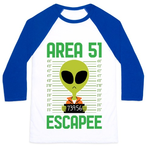 Area 51 Escapee Baseball Tee