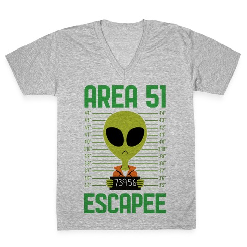 Area 51 Escapee V-Neck Tee Shirt
