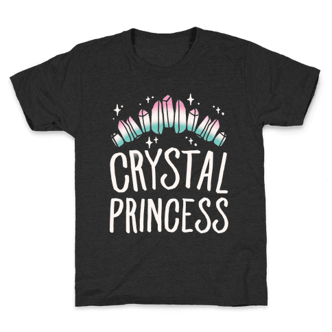 Crystal Princess White Print  Kids T-Shirt