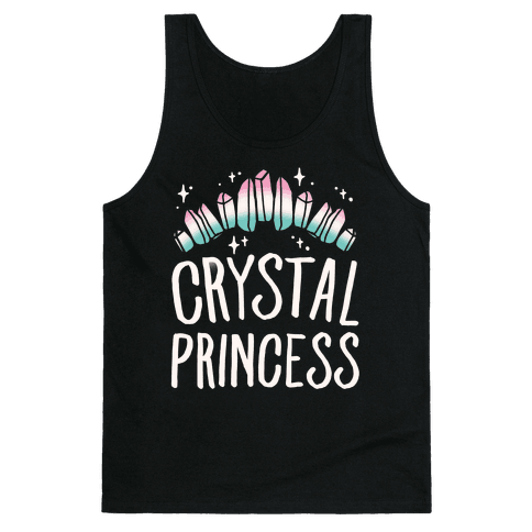 Crystal Princess White Print  Tank Top