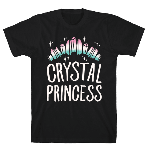 Crystal Princess White Print  Mens T-Shirt