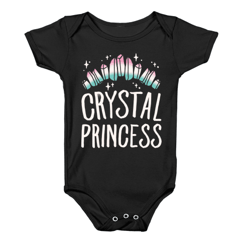 Crystal Princess White Print  Baby Onesy