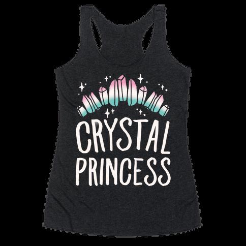 Crystal Princess White Print  Racerback Tank Top