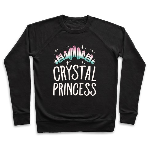 Crystal Princess White Print  Pullover