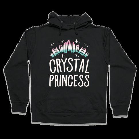 Crystal Princess White Print  Hooded Sweatshirt