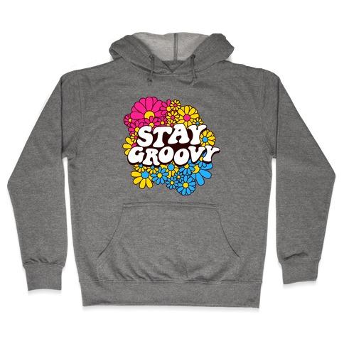 Stay Groovy (Pan Flag Colors) Hooded Sweatshirt